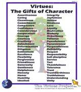 Virtues - the gifts of Character poster