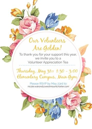 Volunteer Tea Invite 2018