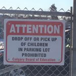 Dropping off students in the parking lot message