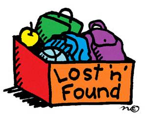 Lost and Found box of items
