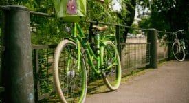 photo of green bike