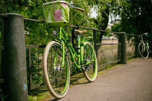 photo of green bike