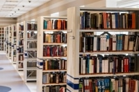 Library Book Shelves Image