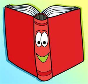Red book with a happy face
