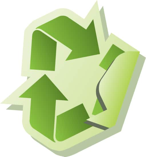 Image with Circular Arrows indicating recycling