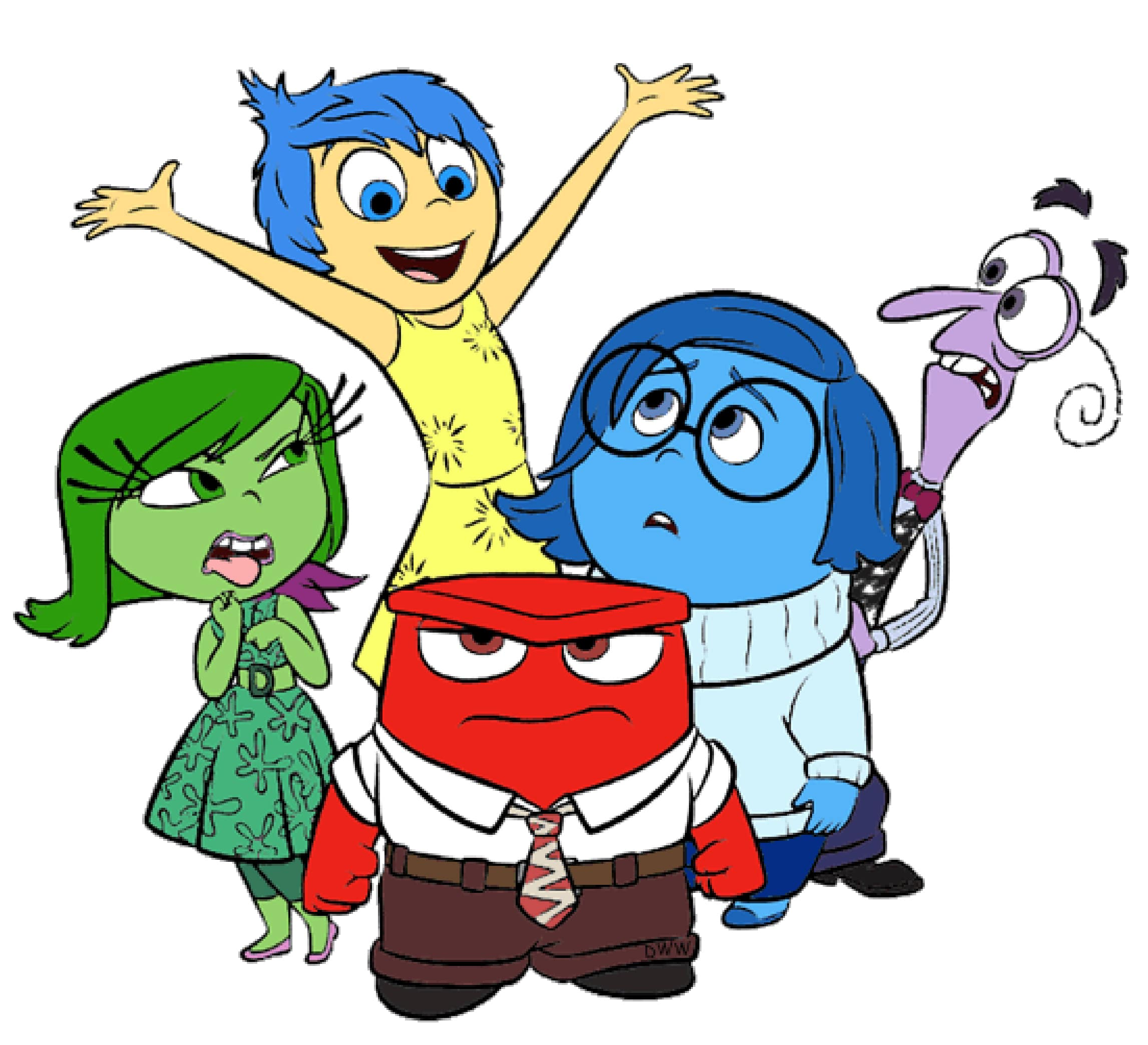 Character Images from Inside Out Movie