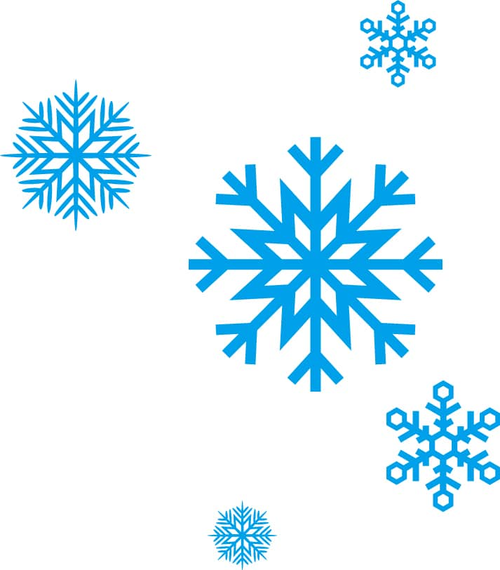 Image of snowflakes in different sizes