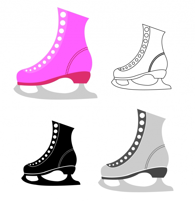 Image of Ice Skates in Different Colors