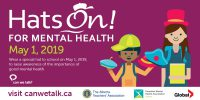 Hats On! For Mental Health Day Poster