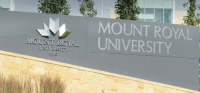 Photo of Mount Royal University Front Lawn Sign