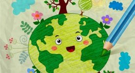 Earth Day Image of Happy Planet Earth