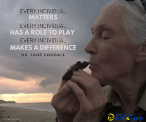 Photo of Jane Goodall and Turtle