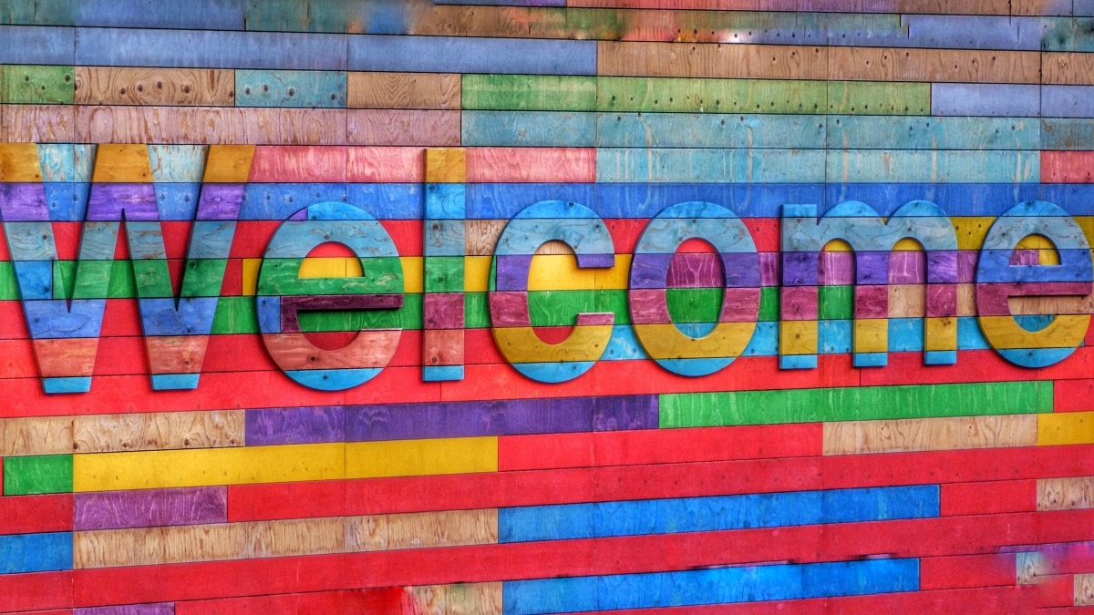 Colourful Welcome Sign