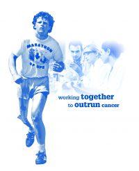 Terry Fox Run Graphic of Terry Running