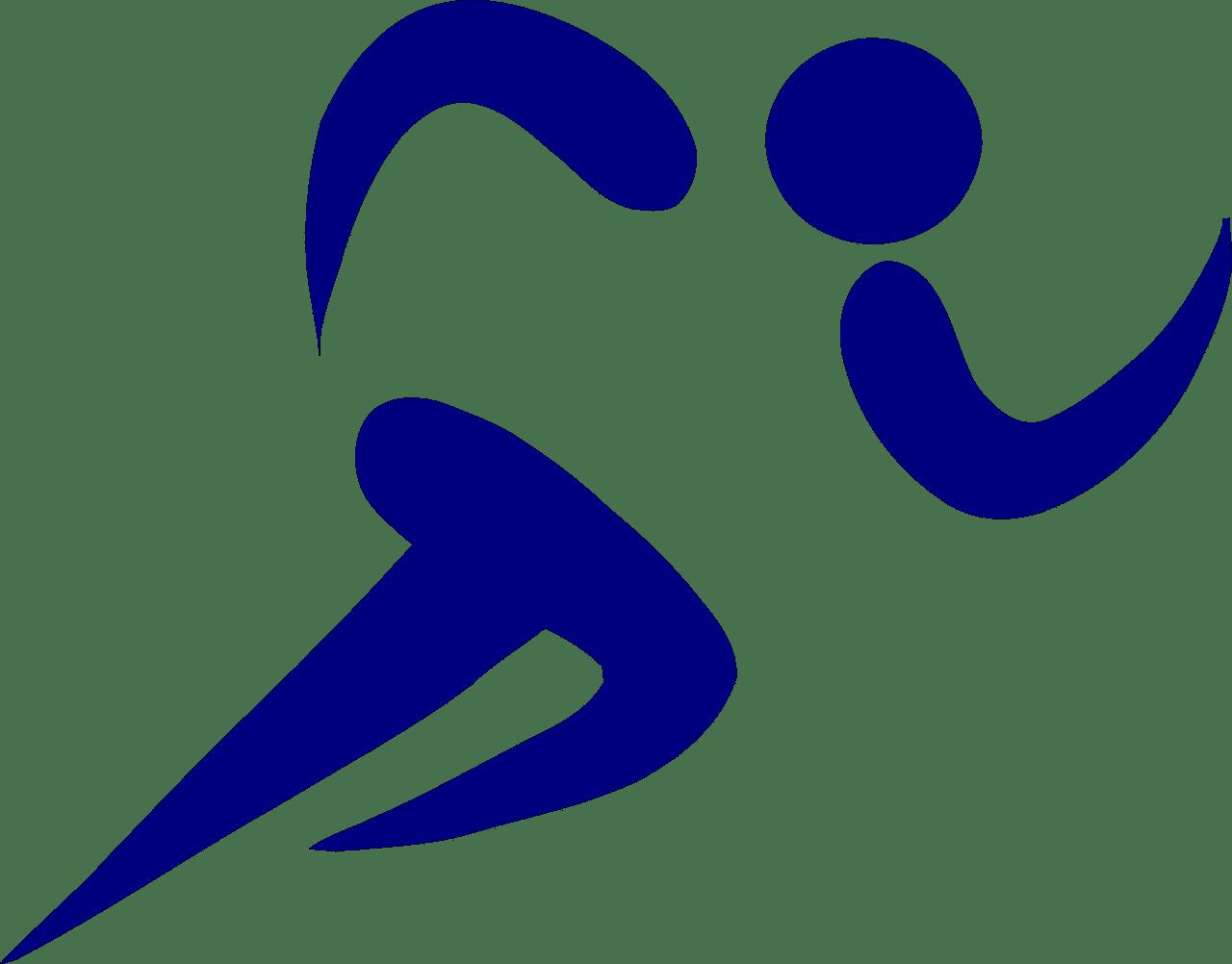 Symbolic image of athlete running