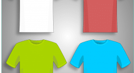 coloured tshirt