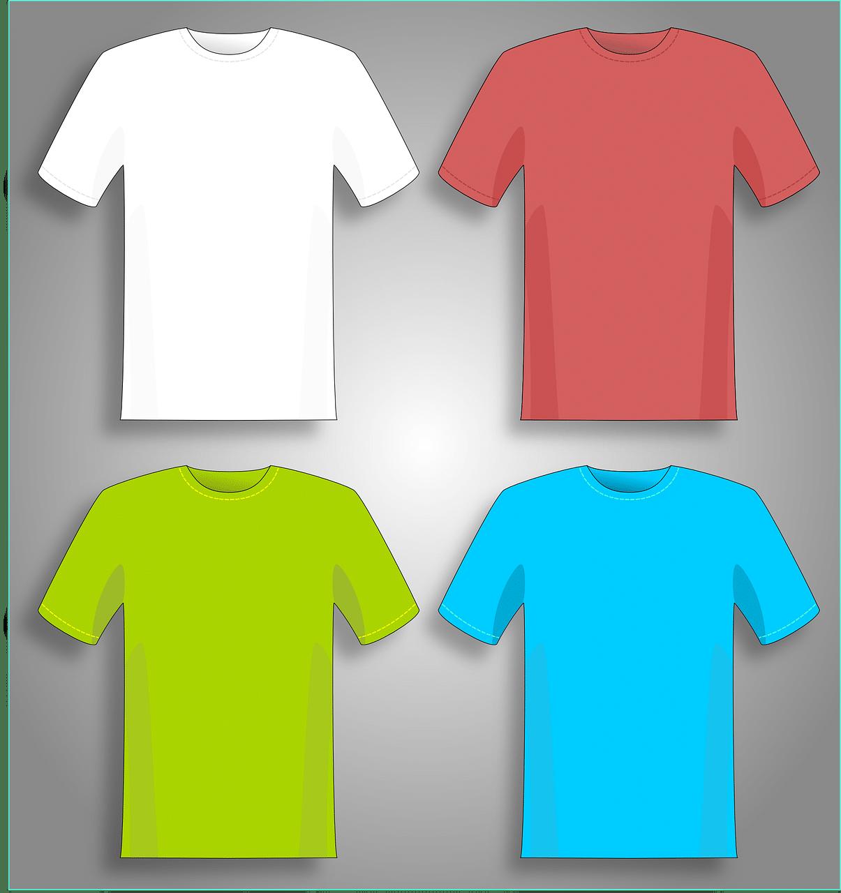 coloured tshirt