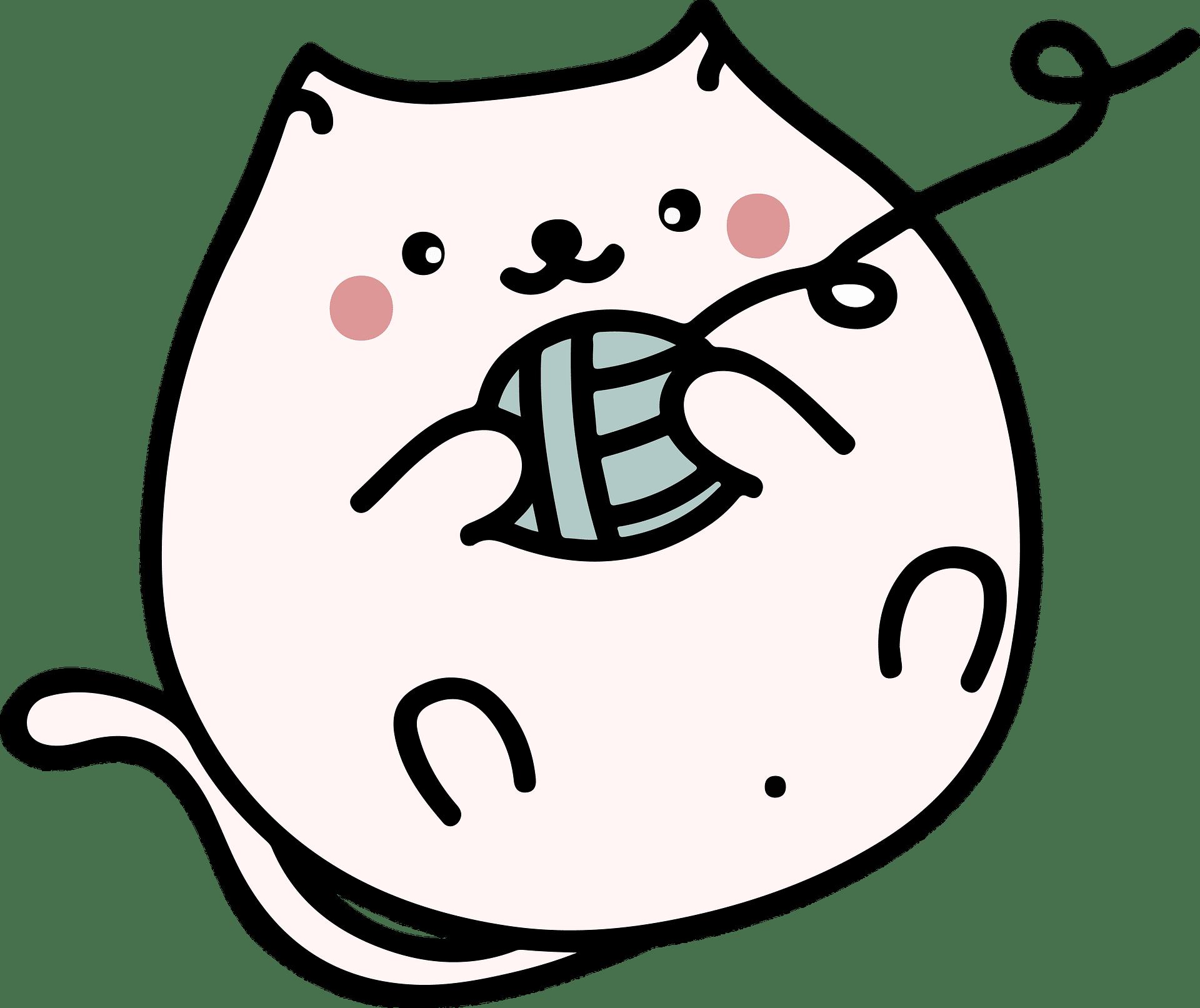 Sketch of Cute Fat Cat