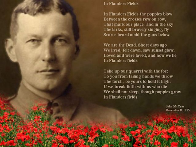 John Mcrae In Flanders Fields Photo