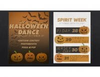 Halloween Dance & Spirit Week Poster