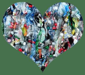 Plastic Bottle Photo Cropped to Heart Shape