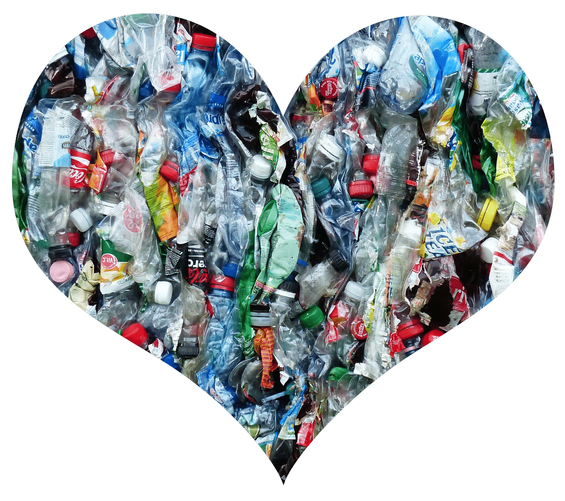 Plastic Bottle Photo Cropped to Heart Shape