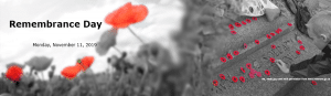 Remembrance Day Banner With Poppies