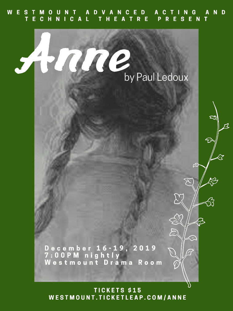 Anne Drama Production Poster