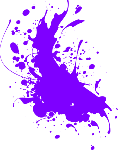 Purple splash of paint