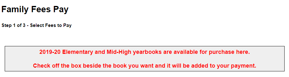 Yearbook Message