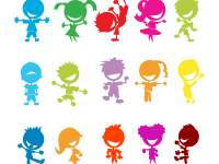 Colourful kids poster
