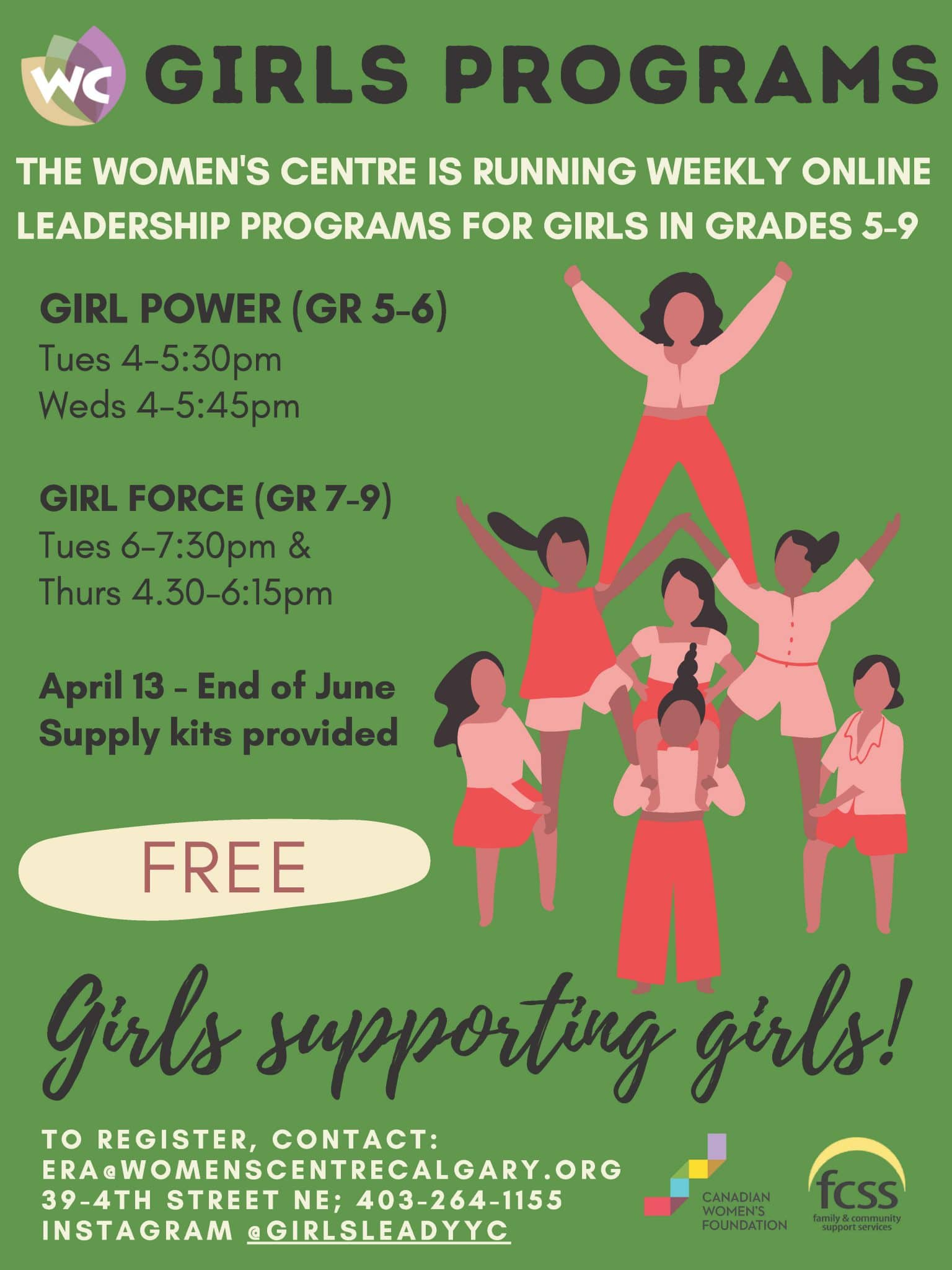 Girls Programs Poster