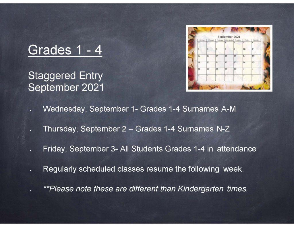 Gr 1-4 Staggered Entry Banner