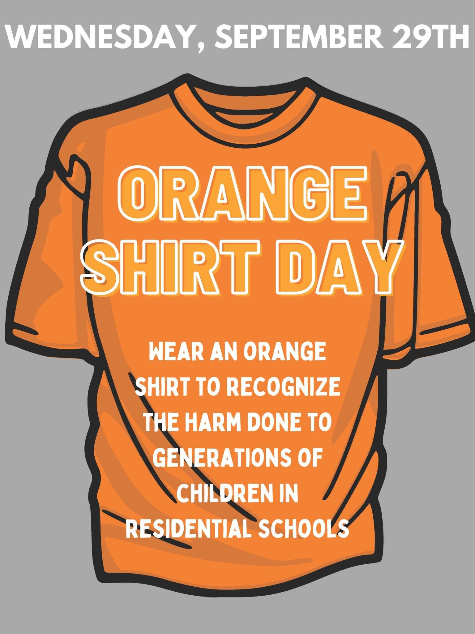 Orange Shirt Poster